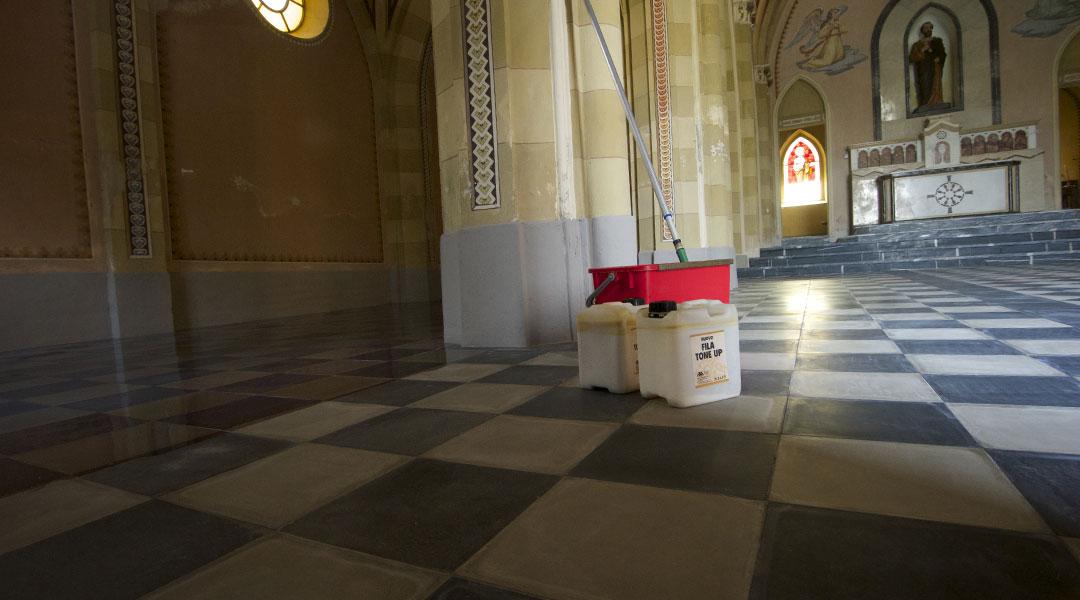 trattamento pavimenti chiese